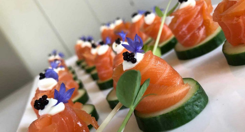 Photo of Luckmans Salmon Canapes on table